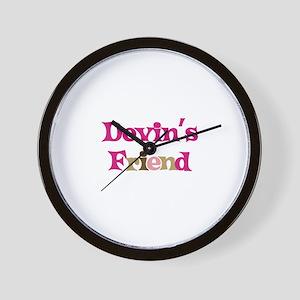 Devin's Friend Wall Clock