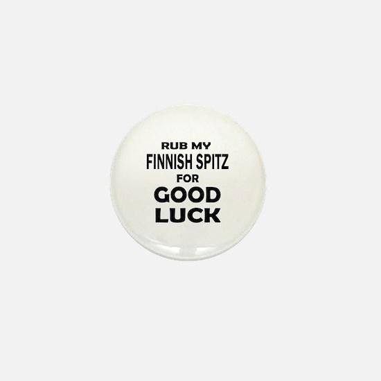 Rub My Finnish Spitz Dog For Good Luck Mini Button