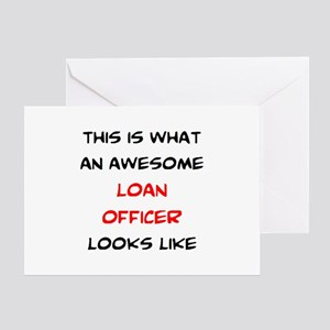 awesome loan officer Greeting Card