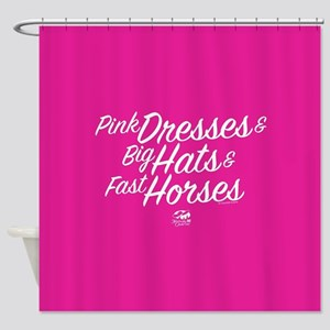 KY Derby 144 Pink Dresses Big Hats Shower Curtain