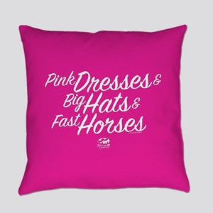 KY Derby 144 Pink Dresses Big Hats Everyday Pillow