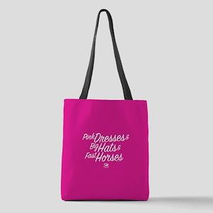 KY Derby 144 Pink Dresses Big H Polyester Tote Bag