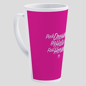 KY Derby 144 Pink Dresses Big Hats 17 oz Latte Mug