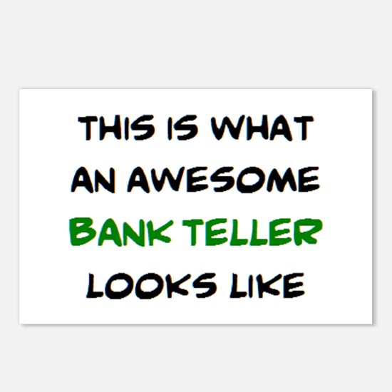 awesome bank teller Postcards (Package of 8)