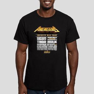 Avengers Infinity War Men's Fitted T-Shirt (dark)