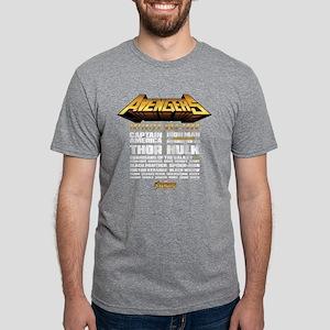 Avengers Infinity War Lineu Mens Tri-blend T-Shirt