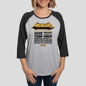 Avengers Infinity War Lineup Womens Baseball Tee
