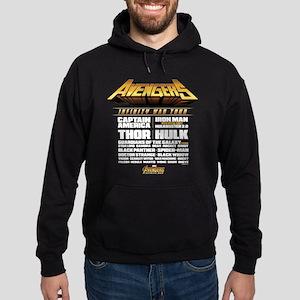 Avengers Infinity War Lineup Hoodie (dark)