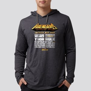 Avengers Infinity War Lineup Mens Hooded Shirt
