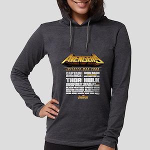 Avengers Infinity War Lineup Womens Hooded Shirt