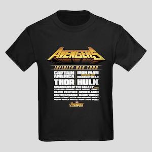 Avengers Infinity War Lineup Kids Dark T-Shirt