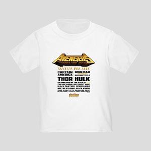 Avengers Infinity War Lineup Toddler T-Shirt