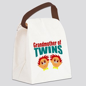 grandmother of twins Canvas Lunch Bag