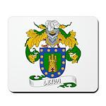 Leiva Family Crest Mousepad