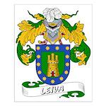 Leiva Family Crest Small Poster
