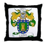 Leiva Family Crest Throw Pillow