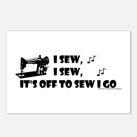 I Sew, I Sew Postcards (Package of 8)