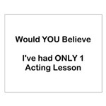 Acting Lessons Small Poster