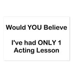 Acting Lessons Postcards (Package of 8)