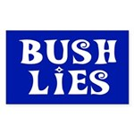 BUSH LIES Rectangle Sticker