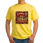 Wine Sign: Merlot Yellow T-Shirt