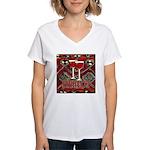 Wine Sign: Merlot Women's V-Neck T-Shirt