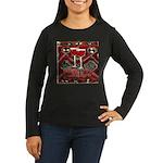 Wine Sign: Merlot Women's Long Sleeve Dark T-Shirt