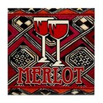 Wine Sign: Merlot Tile Coaster
