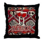 Wine Sign: Merlot Throw Pillow