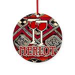Wine Sign: Merlot Ornament (Round)