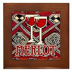 Wine Sign: Merlot Framed Tile