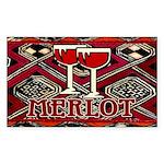Wine Sign: Merlot Rectangle Sticker