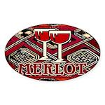 Wine Sign: Merlot Oval Sticker