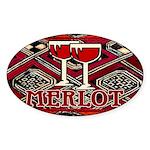 Wine Sign: Merlot Oval Sticker (10 pk)