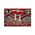 Wine Sign: Merlot Rectangle Magnet (10 pack)
