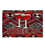 Wine Sign: Merlot Postcards (Package of 8)