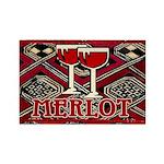 Wine Sign: Merlot Rectangle Magnet