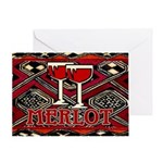 Wine Sign: Merlot Greeting Card