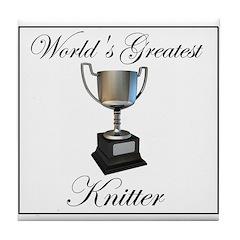 World's Greatest Knitter Tile Coaster