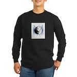 Knit Yin Yang Long Sleeve Dark T-Shirt