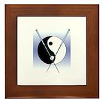 Knit Yin Yang Framed Tile