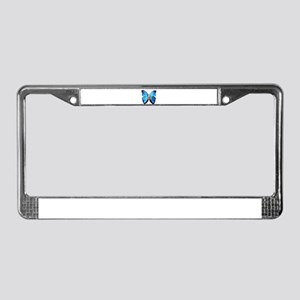 BLUE BUTTERFLY MEDITATION IMAG License Plate Frame