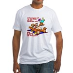 Lay on the Beach Fitted T-Shirt