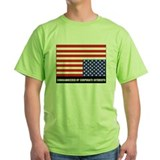 Upside down american flag Green T-Shirt