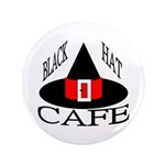 "Black Hat Cafe 3.5"" Button (100 pack)"