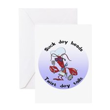 Cajun Crawfish Greeting Card