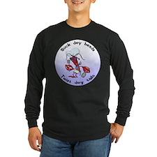 Cajun Crawfish Long Sleeve Dark T-Shirt