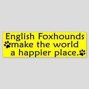 Happy Place English Foxhound Bumper Sticker