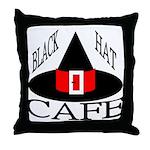 Black Hat Cafe Throw Pillow