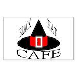 Black Hat Cafe Rectangle Sticker